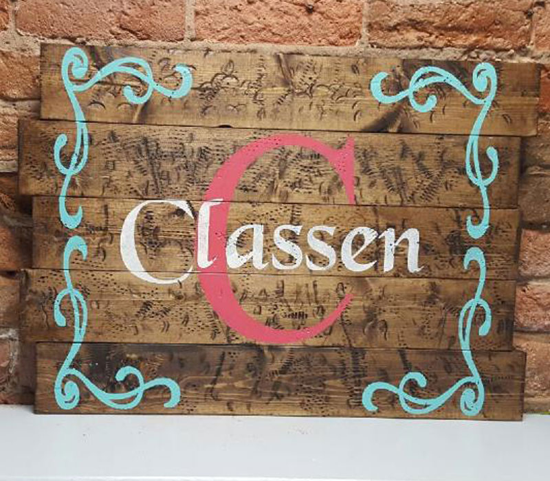 313 - Personalized monogram with curly swirl border