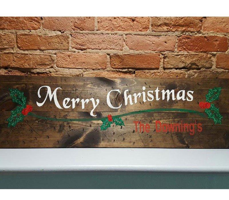 417 - WIDE Merry Christmas Personalized