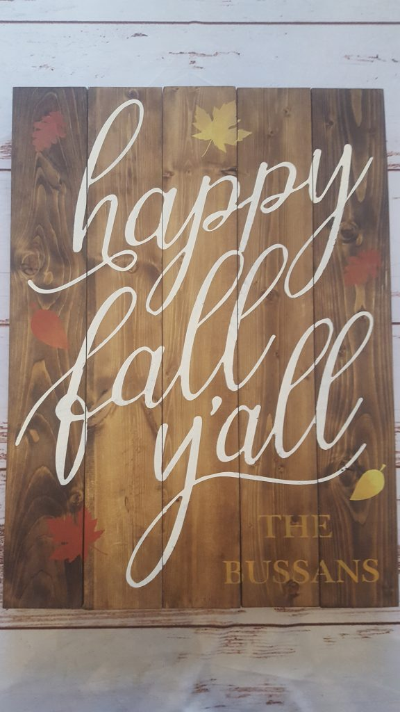 355 - Happy Fall Yall Personalized