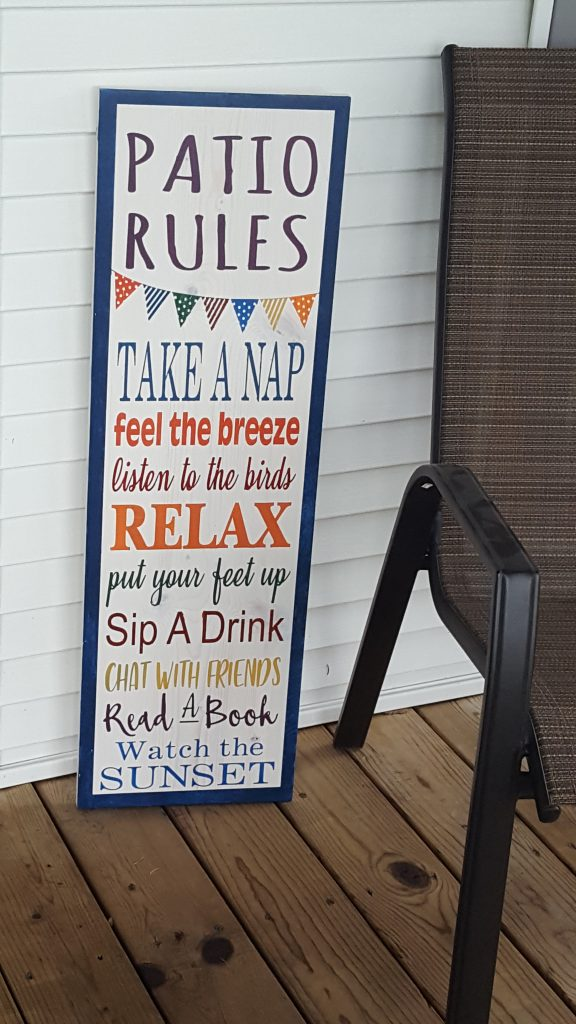 230 - Patio Rules