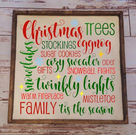 483 - Christmas Words Oversized