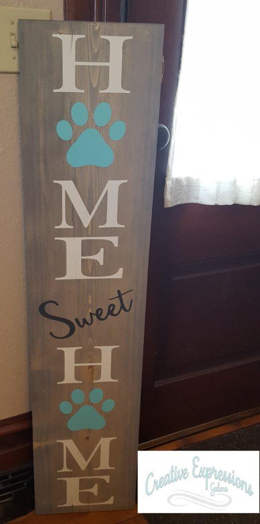 040 - Home Sweet Paw Print