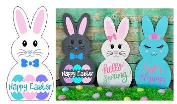 435 - Bunny-Happy Easter