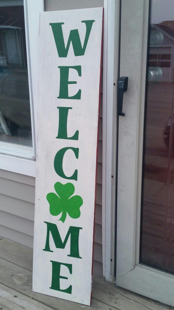 095 - Porch - Welcome Shamrock