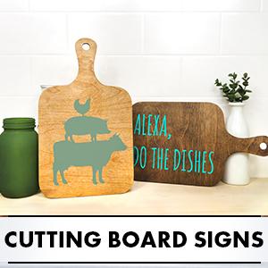 Cutting Board Signs