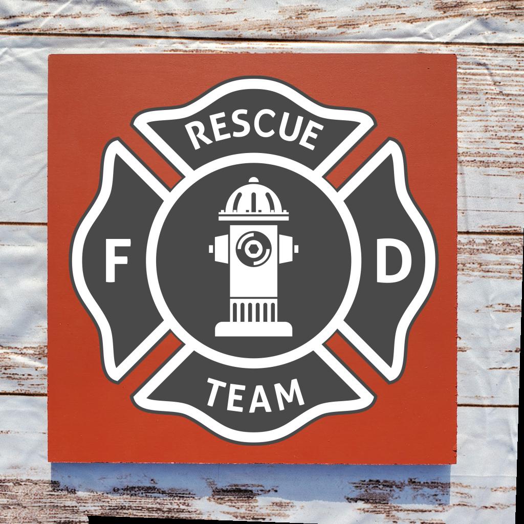 539 - Fire Rescue Team Logo