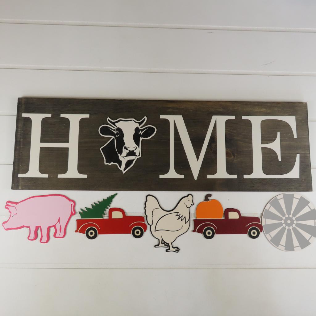 152 - Home Interchangeable Sign - Farm Set