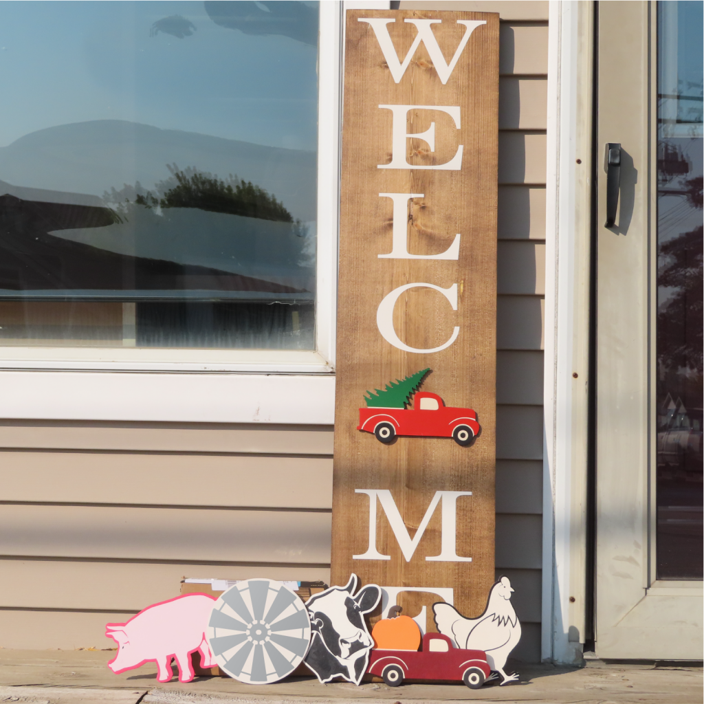 150 - Welcome Interchangeable Sign - Farm Set