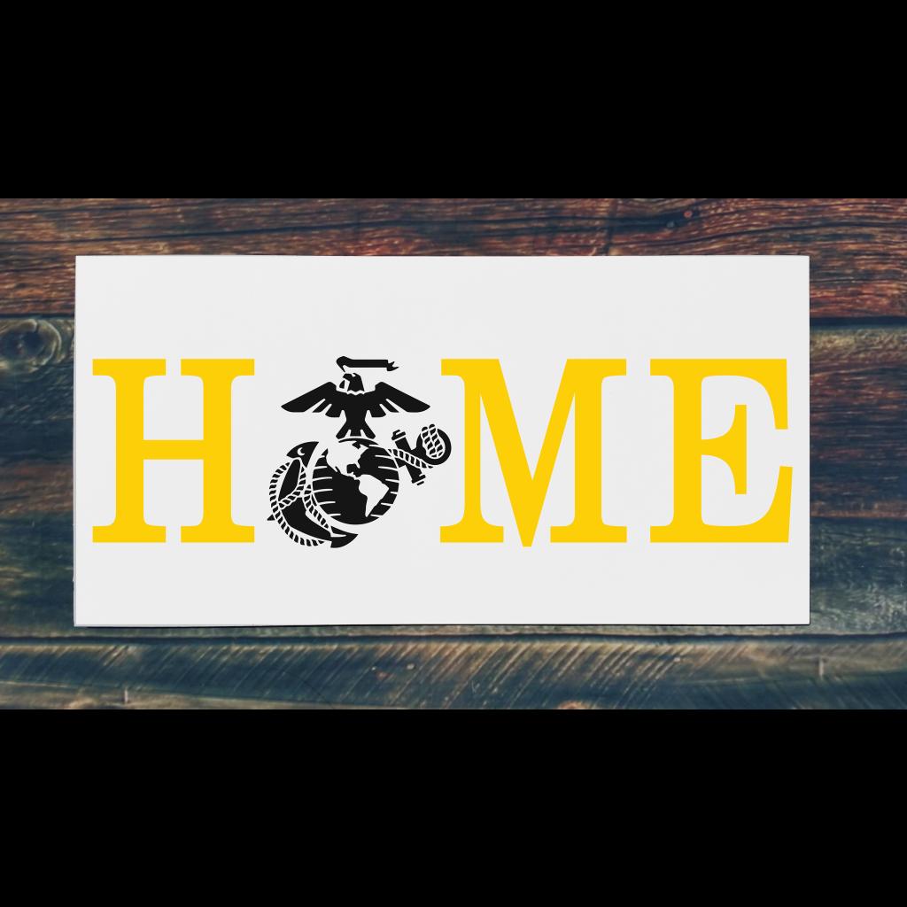 Marines Home on 24x12 board